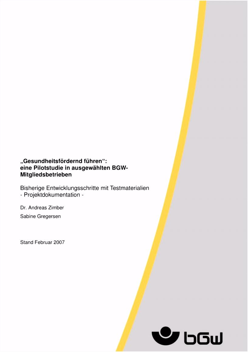 Sicherheitsunterweisung Elektrotechnik Vorlage Pdf Gesundheitsfördernd Führen – Ein Projekt Der B6pc26lnn2 Amcqhhtgl2