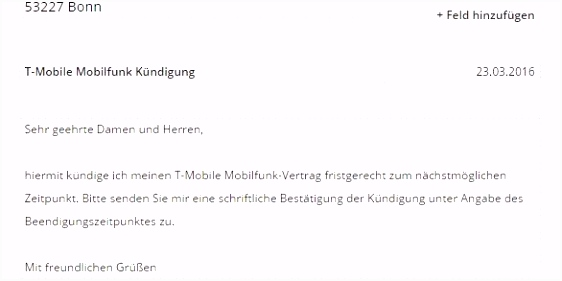 Internetvertrag Kndigung Vorlage Download ChipTonline Kündigung