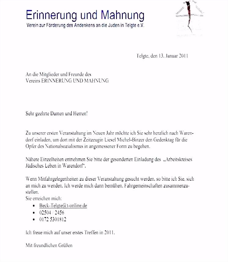 Formelle Einladung Vorlage Neu Einzigartiges Schreiben Vorlage