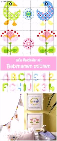 Kreuzstich Buchstaben Schreibschrift Sticken Buchstaben Vorlagen