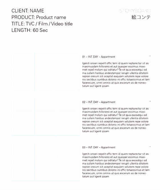 7 Movie StoryBoard Templates DOC Excel PDF PPT