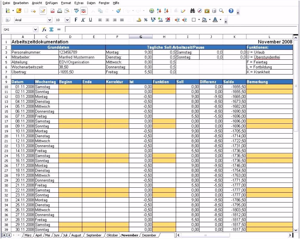 Datev Stundenzettel Excel bezüglich Different Datev Vorlage Zur