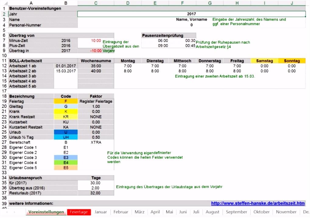 Zeiterfassung Excel Vorlage Kostenlos durchgehend Creative Kostenlos