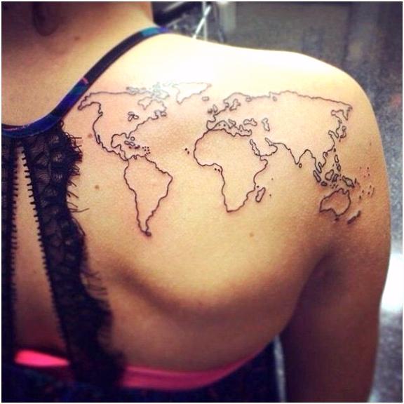 Besten Der Weltkarte Tattoo Vorlage