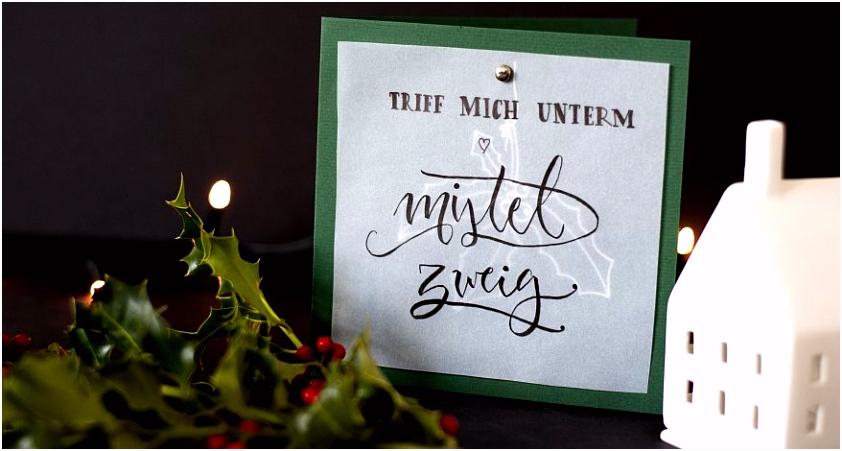 DIY Weihnachtskarte mit Transparentpapier News Kargl Büro und