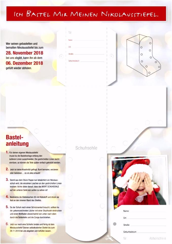 Nikolausstiefel basteln Papierus GmbH
