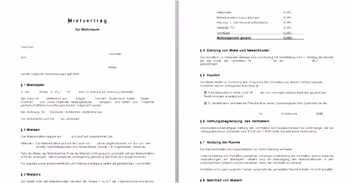 Untermietvertrag Vorlage Englisch Design Mietvertrag Kündigung