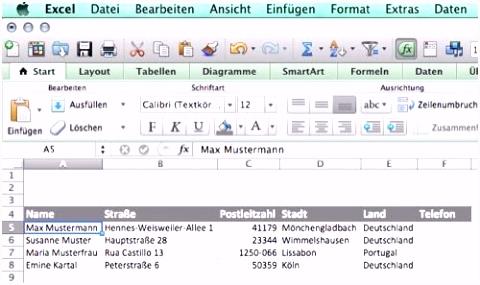 Genial Kundendatenbank Excel Vorlage
