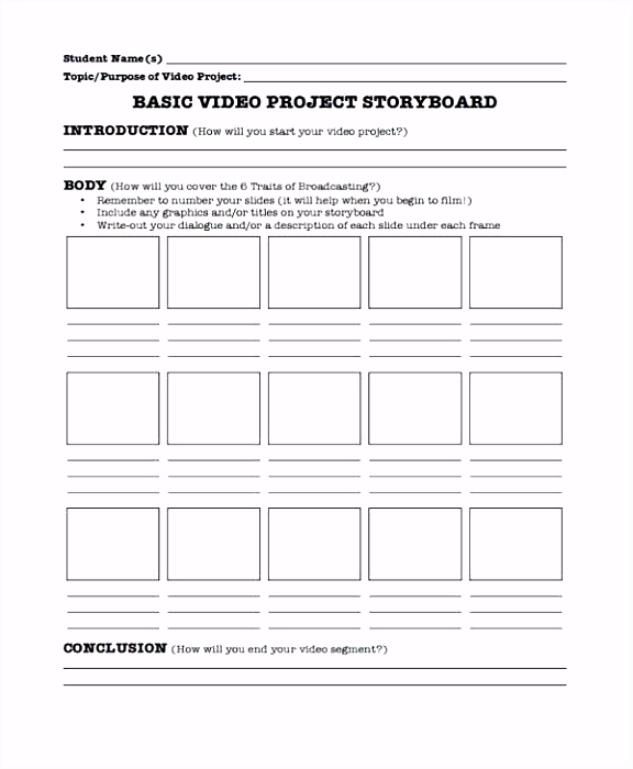 Website Storyboard Template Example Download Project Video