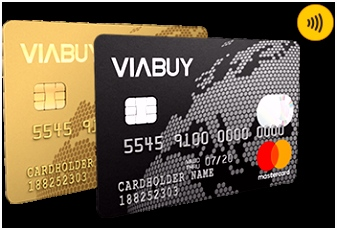 VIABUY prepaid credit card with online account