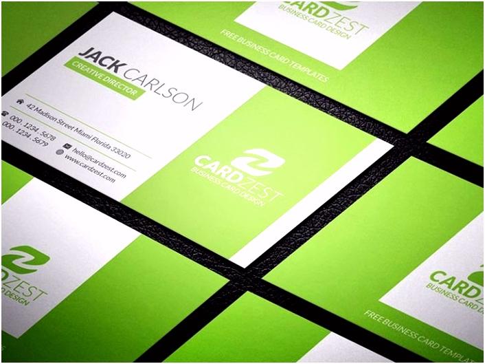 Frisches Visitenkarten Design Vorlagen Kostenlos Download