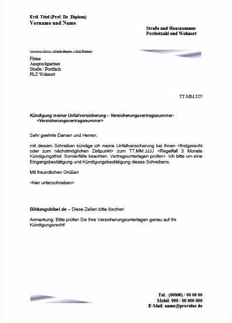 Kündigung Vodafone Vorlage Einzigartiges Muster Kündigung