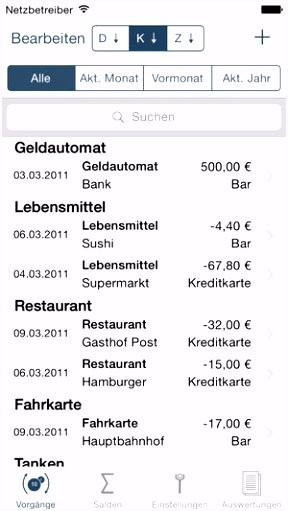 Buchhaltung im App Store