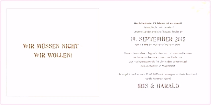 Muster Einladung
