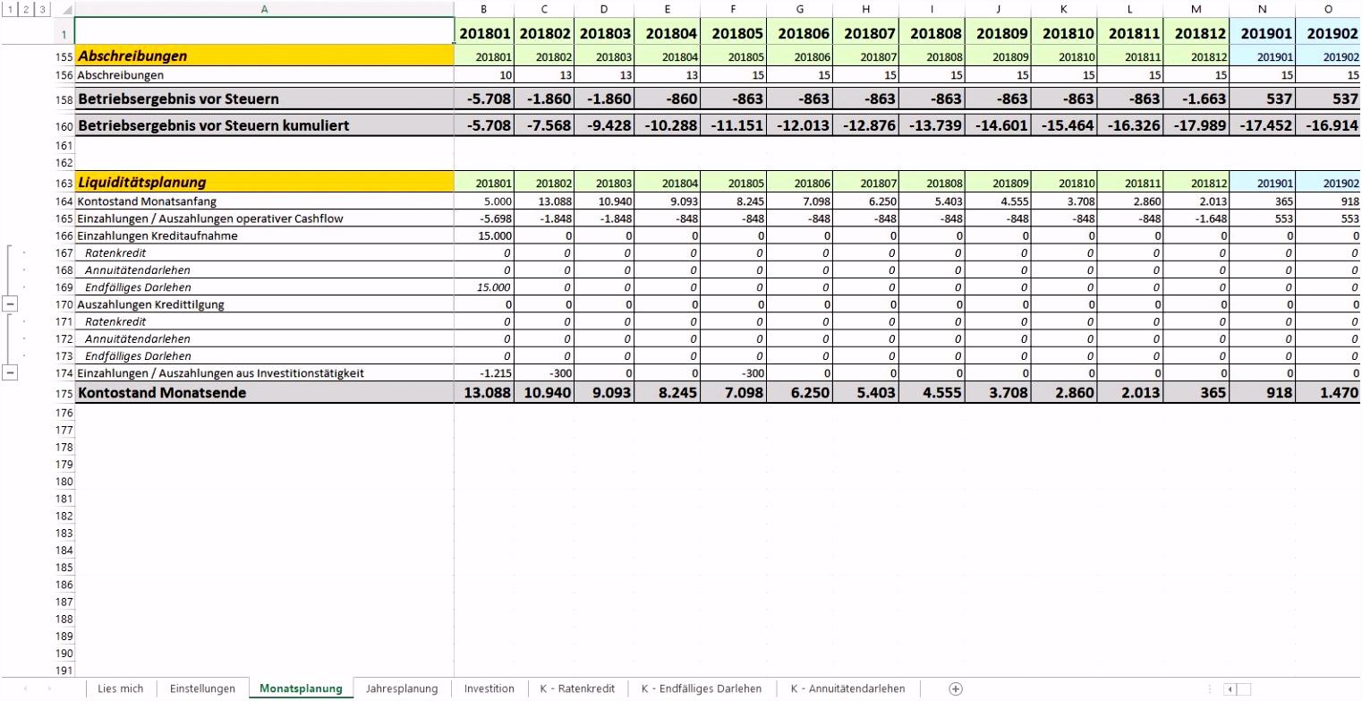 Businessplan Vorlage Excel Ihk