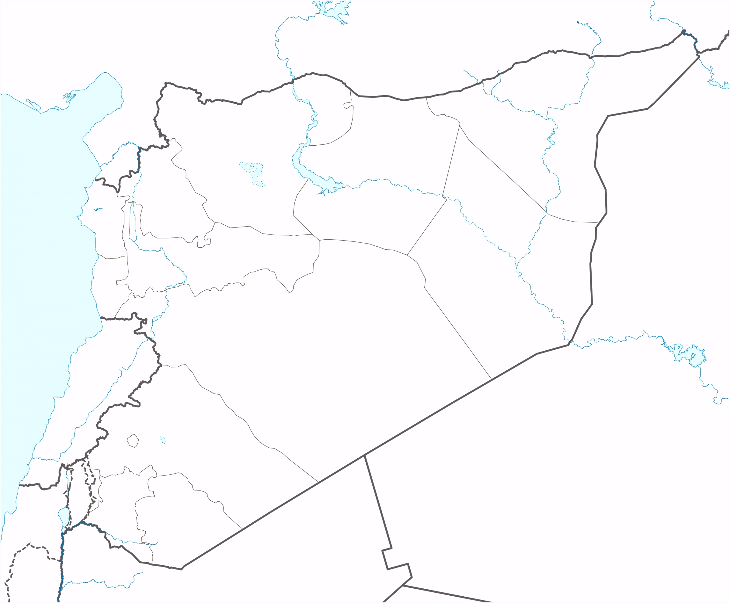 Template Syrian Civil War detailed map