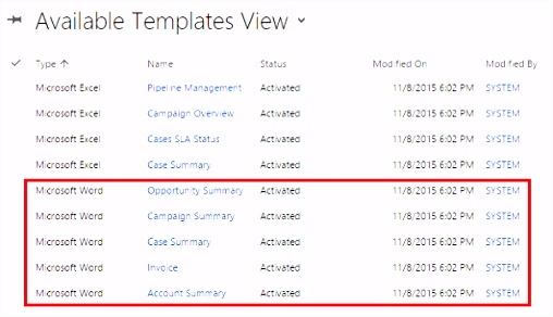 Using Word templates in Dynamics 365 for Customer Engagement apps