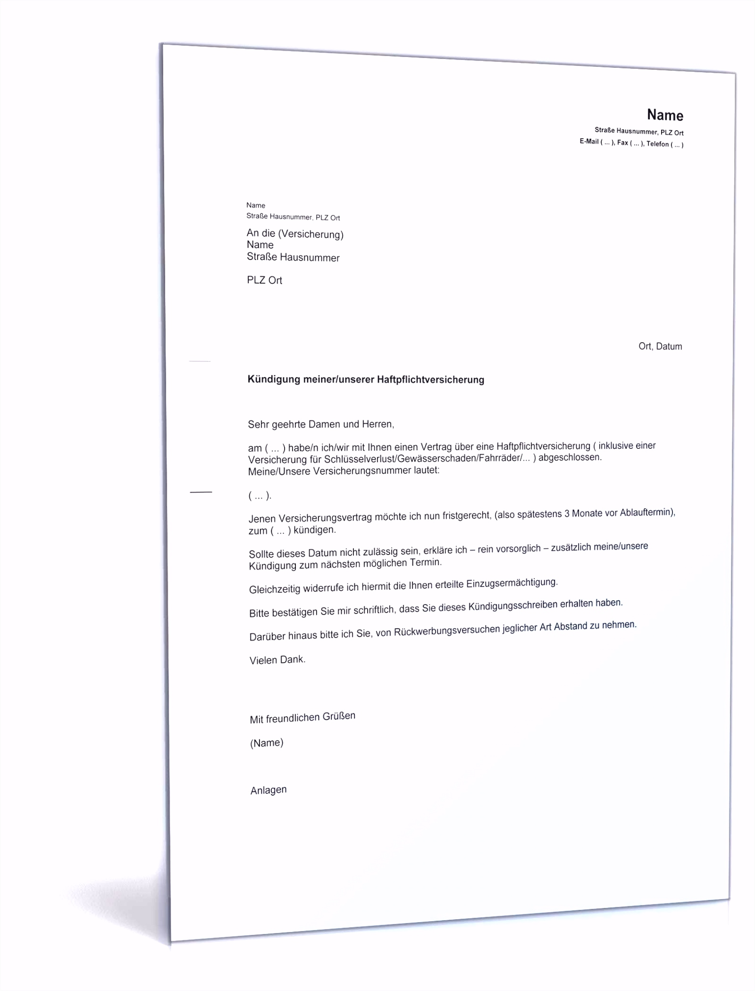 Vorlage Kundigung Hausratversicherung Sammlungen Von Kfz Versicherung Kündigen Carsen L6bs64ykb3 T6pemmlffu