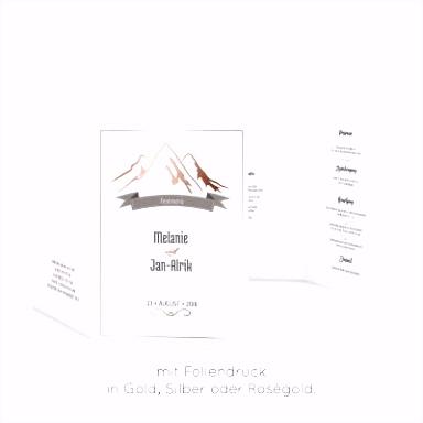Karten mit Heißfolienprägung in Gold Silber und Roségold