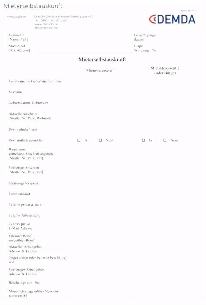 Vorlage Mieterselbstauskunft Abnahmeprotokoll Wohnung Muster – Matsuiub N5ys94akd0 Buiau5xgj0