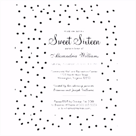 Sweet 16 Invites Wording Best Black and White Party Einladung
