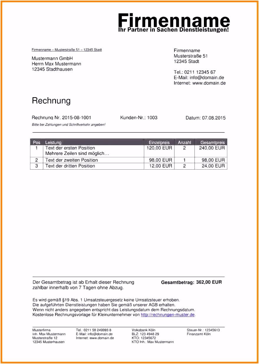 17 privatrechnung vorlage pdf