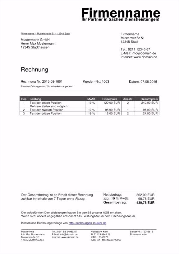 Vorlage Rechnung Kostenlos Word 12 Vorlage Rechnung Kleinunternehmer X3bz95eiy6 Uvjwmubsku