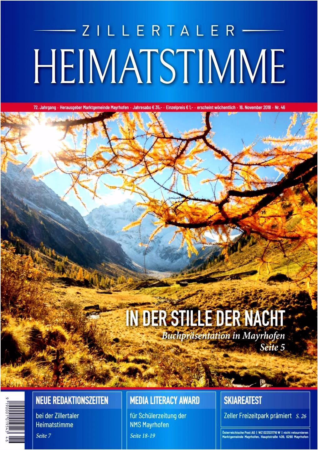 Zillertaler Heimatstimme Ausgabe 46 2018 by Zillertaler