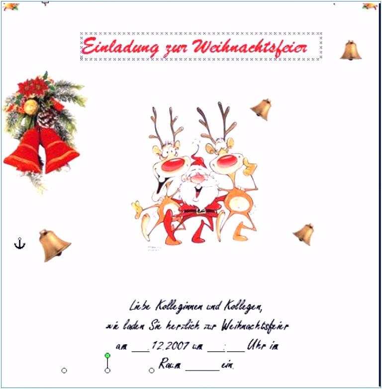 Einladung Weihnachtsfeier Vorlage Kostenlos Neu Neu Einladung