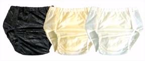 PVC Knöpfer Slip 0 2mm verschweißt Inkontinenz Windelhose Gummihose
