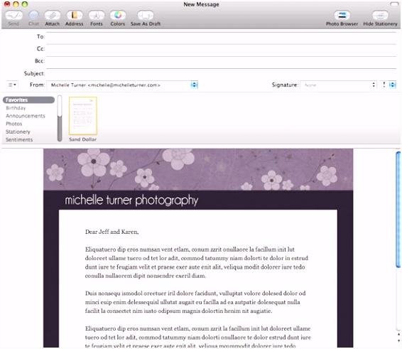 How to create templates for Apple Mail – Web Job Posting