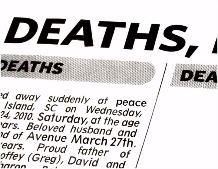 Death Notice Templates And Obituary Templates