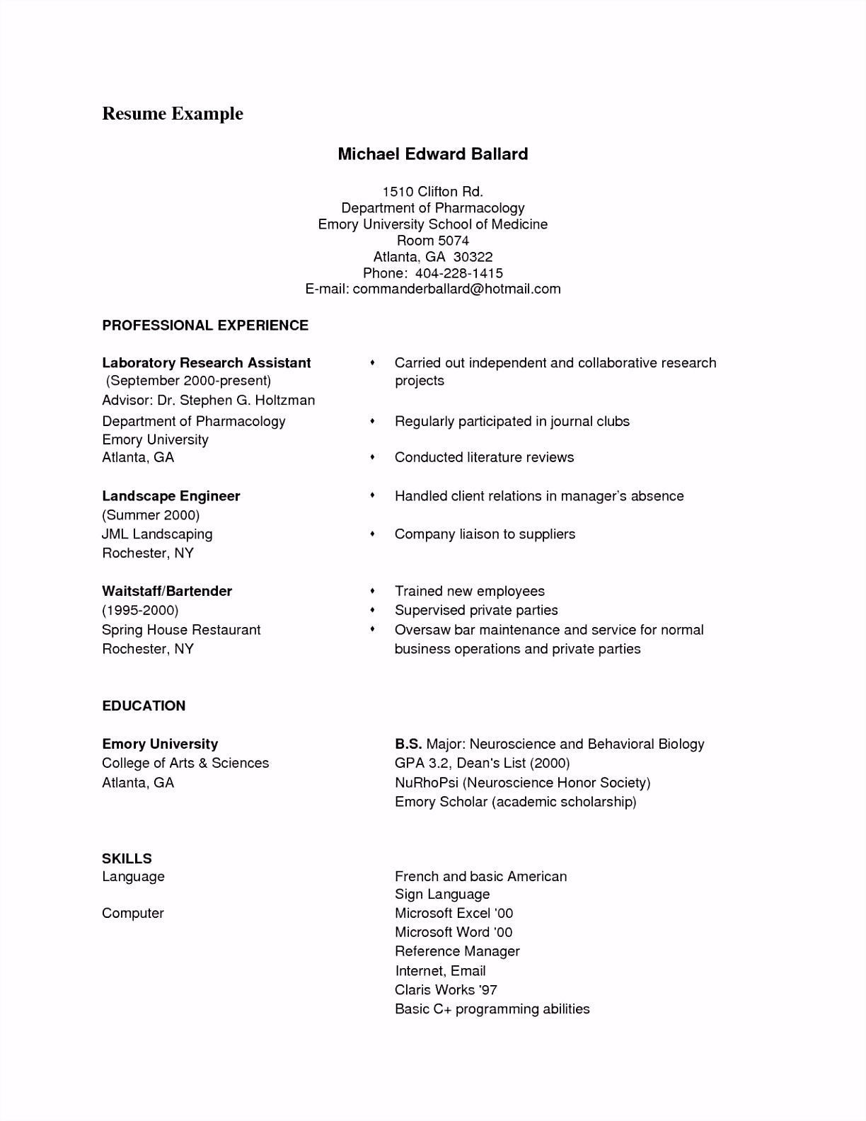 Mac Resume Templates Examples Email Templates for Mac Awesome ¢‹†…