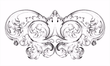 Vektor Vintage baroque frame scroll ornament vector