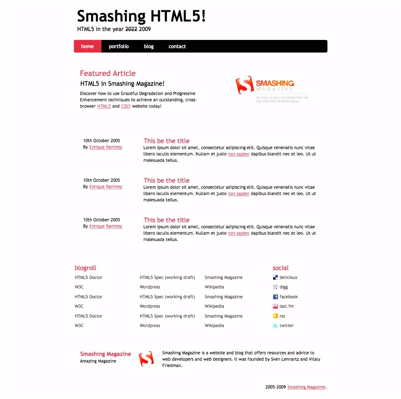 Coding An HTML 5 Layout From Scratch — Smashing Magazine