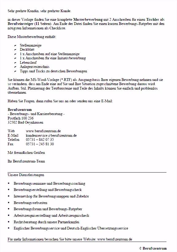 Firmenvorstellung Muster Handwerk 21 Das Neueste Werbebrief Vorlage