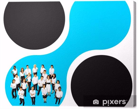 Werbebroschure Vorlage Leinwandbild Blau Vorlage Für Werbebroschüre Mit Kaufleuten • Pixers F2ya13uhy3 Yvwgsshui4