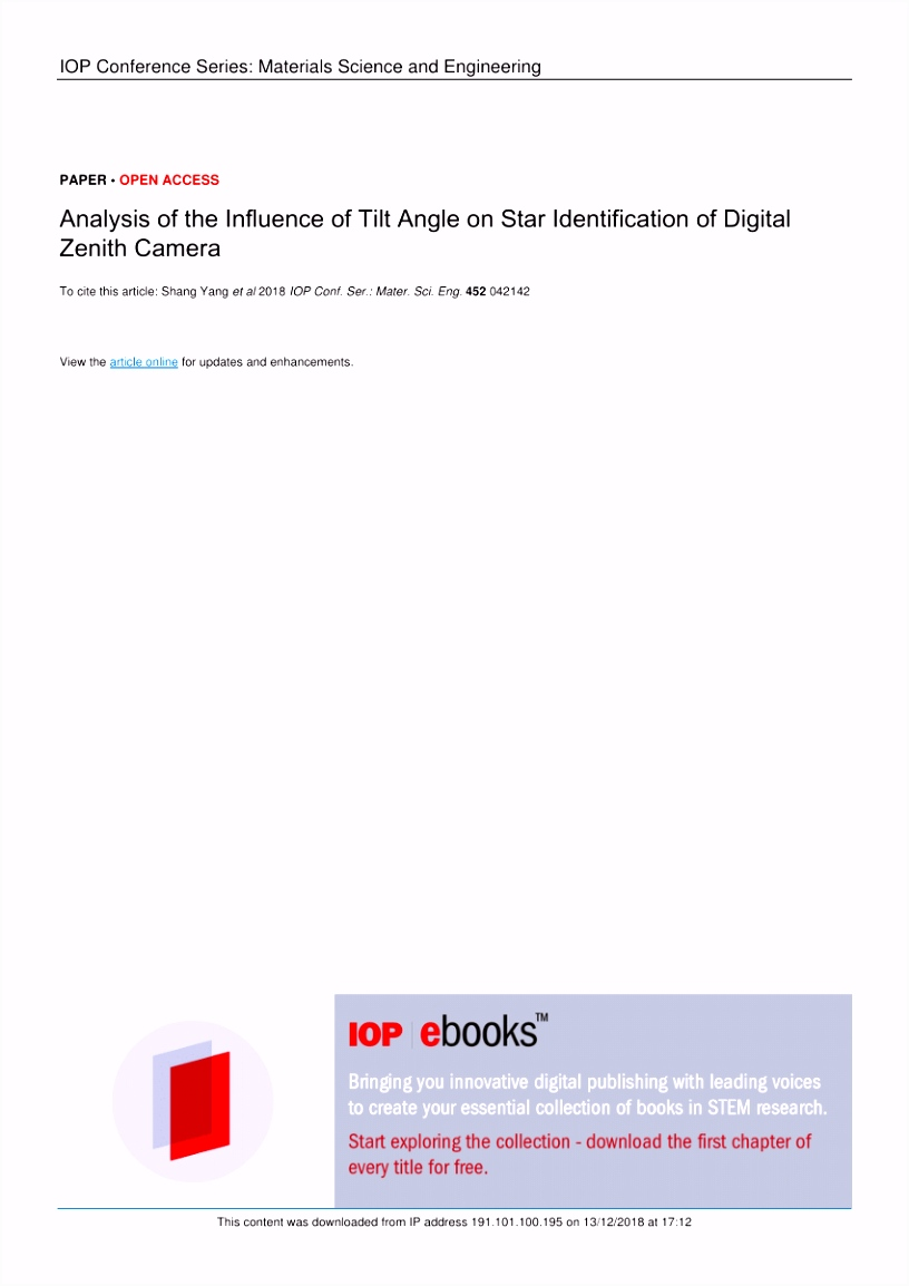 PDF Modern Determination of Vertical Deflections Using Digital