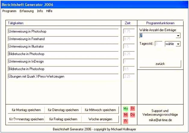 Berichtsheft Vorlage Pdf Schön Wochenbericht Vorlage Kostenlos