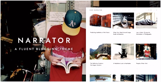 Narrator — A Fluent WordPress Blogging Theme Personal Blog