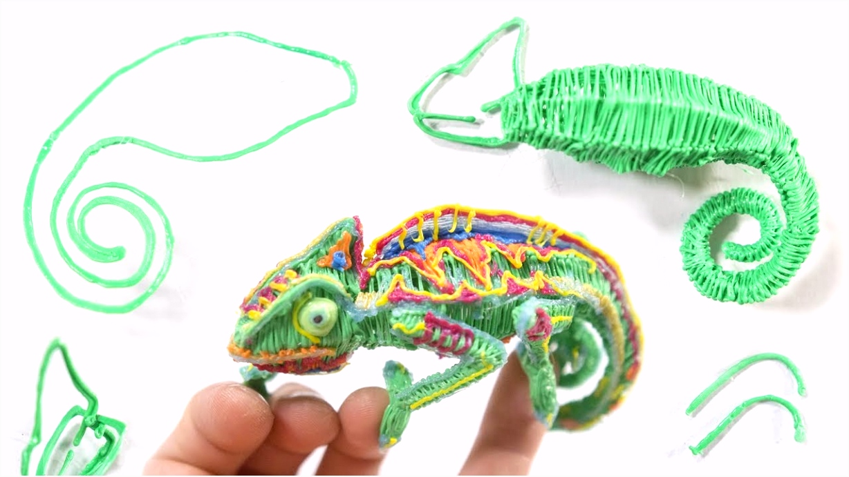 3D Pen Technique Chameleon see description