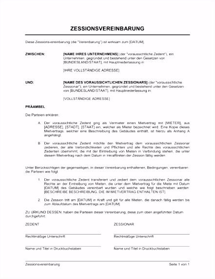Abtretungserklarung Mietvertrag Vorlage Zessionsvereinbarung Vorlagen Und Muster D3rf26tpi3 F5qb65xtc6