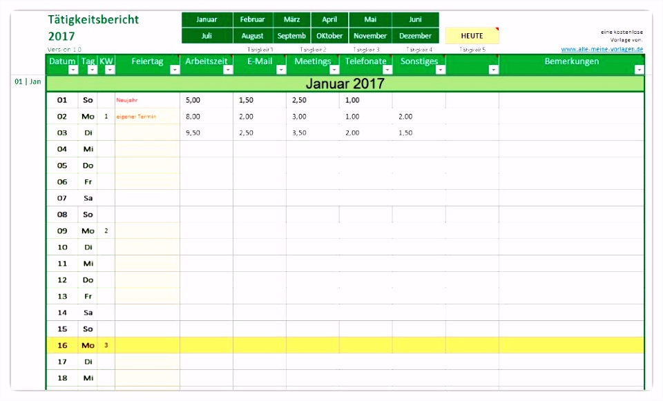 Excel Arbeitszeitnachweis Vorlagen 2017 15 Arbeitszeitnachweis Excel