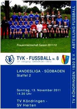 TVK FUSSBALL Nr 8 Saison 2011 12 by TV Köndringen Fussball issuu