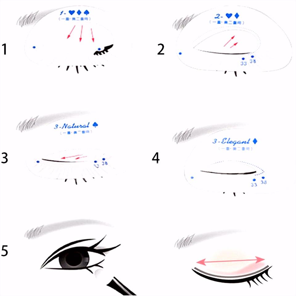 Augenbrauen Vorlage 6 Teile Satz Mode Frauen Make Up Schablonen Eyeliner Lidschatten S4dd67arn6 Wsdcvudthv