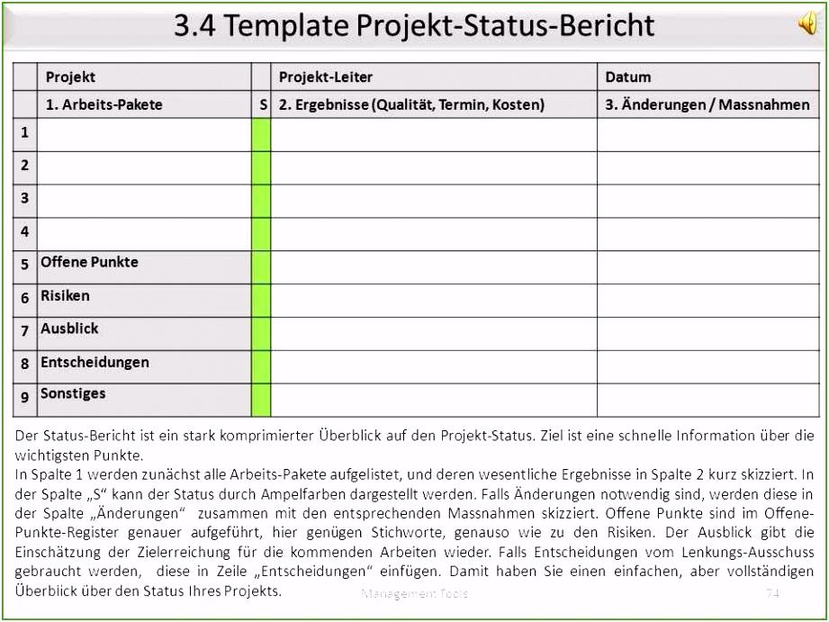 Berühmt Projektstatusbericht Vorlagen Galerie Beispiel