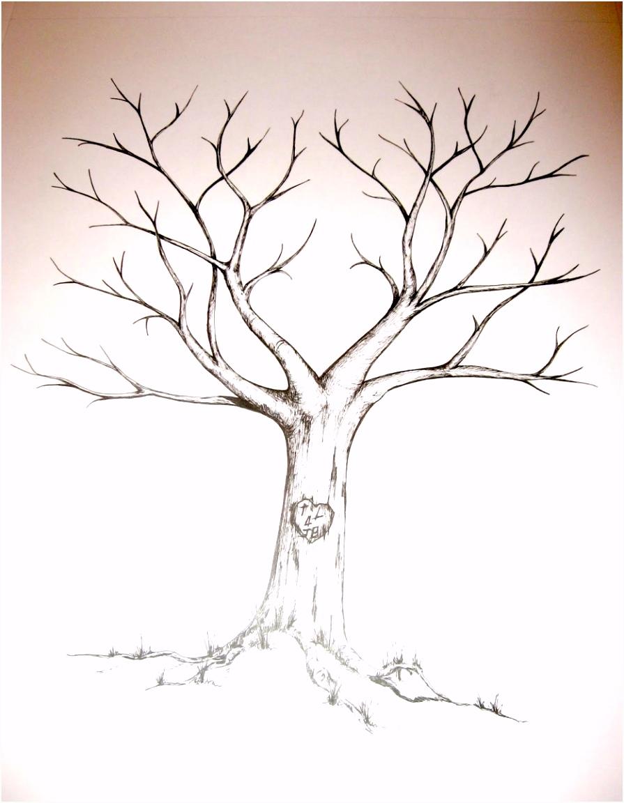 Hochzeitsbaum Vorlage Frisch Baum Fingerabdruck Hochzeit Beste Von