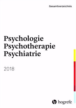 Hogrefe Gesamtverzeichnis Psychologie Psychotherapie Psychiatrie