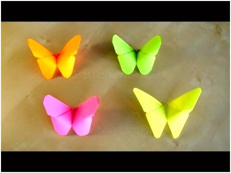 Basteln Origami Schmetterling falten mit Papier Bastelideen