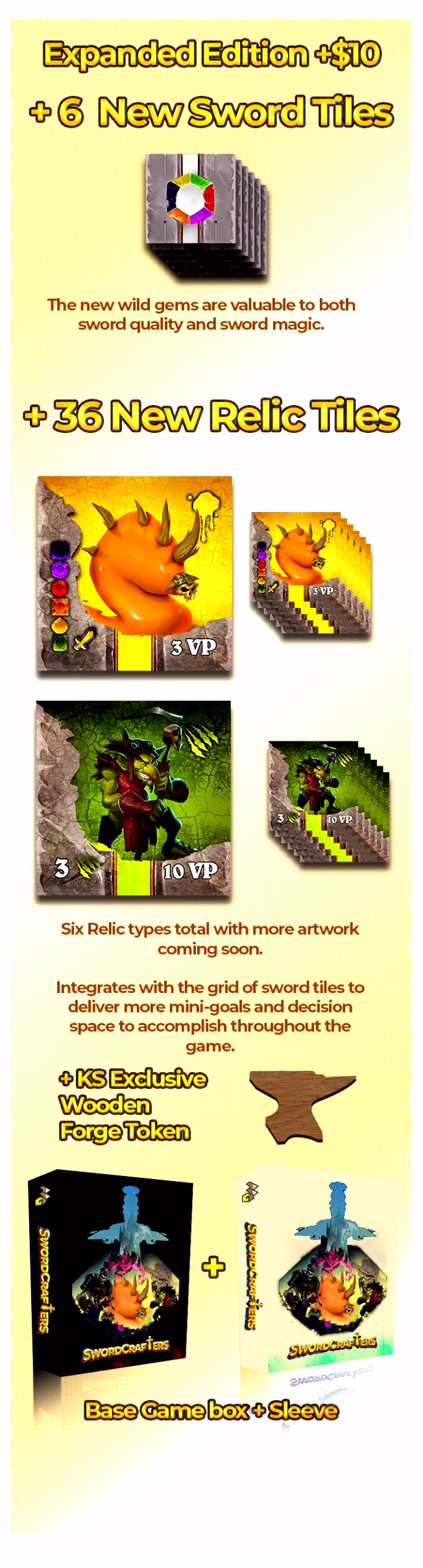 Swordcrafters Craft 2D game pieces into a 3D sword by Adam